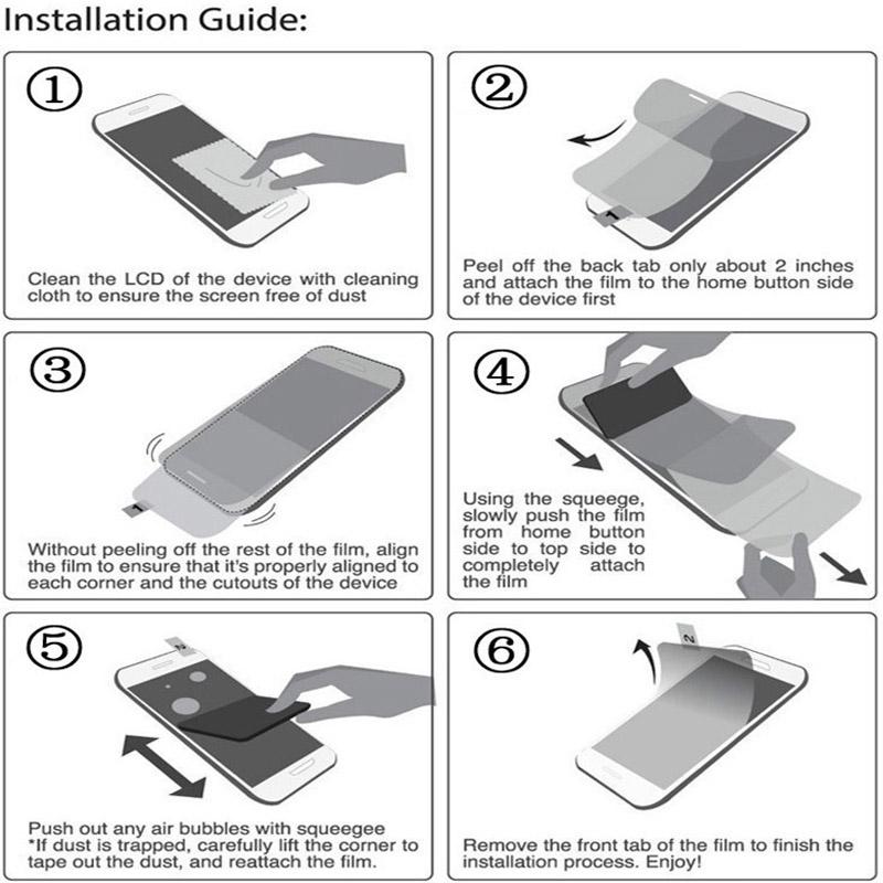 3 sztuk/partia jasne lub matowe uniwersalny ekrany ochronne 5/6/7/8/9/10/11 /12 Cal folie ochronne dla telefonów komórkowych tablet z funkcją telefonu samochód GPS LCD 9