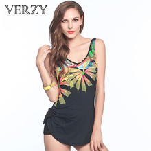 D/E/F/G Bra Cup Swimwear Plus Size Women Backless One Piece Swimsuit Floral Pattern Large Size Loose Summer Beachwear For 2017(China)