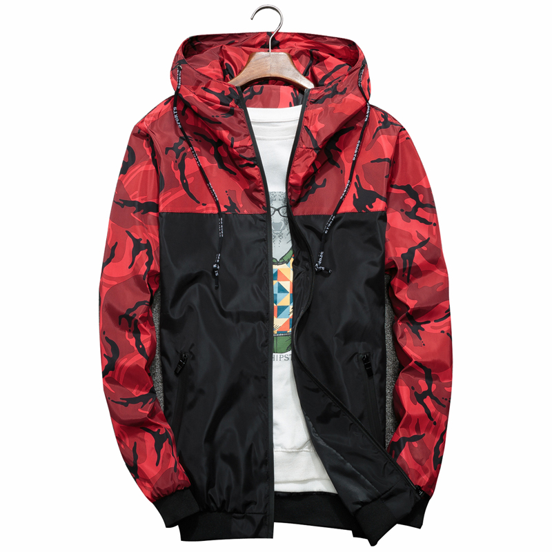 Spring Autumn Mens Casual Camouflage Hoodie Jacket Men Waterproof Clothes Men's Windbreaker Coat Male Outwear 2