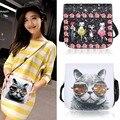 Mini Samll Women Cross Shoulder Bags Girls Fashion Cute Animal Pattern Adjustable Strap Handbag Faux Leather Shoulder Bag vy