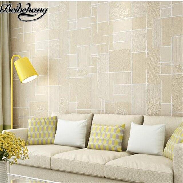 beibehang behang slaapkamer eenvoudige moderne milieuvriendelijke vliesbehang woonkamer tv muur behang 3d stereo