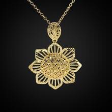 Ожерелье с подвеской в виде золотого полого цветка чокер короткое