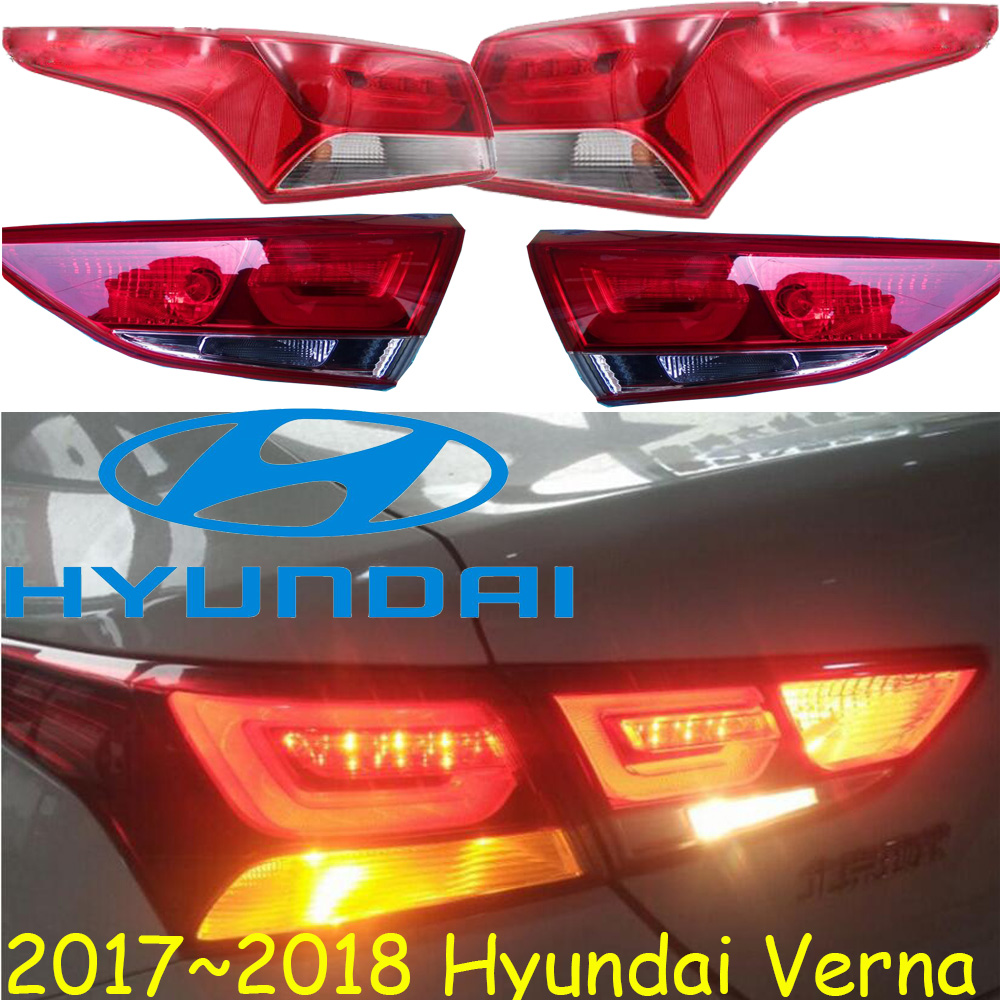 2017~2018 Verna taillight,solaris,Free ship!LED,verna rear light,verna fog light;Tucson,Santa Fe,verna tail light