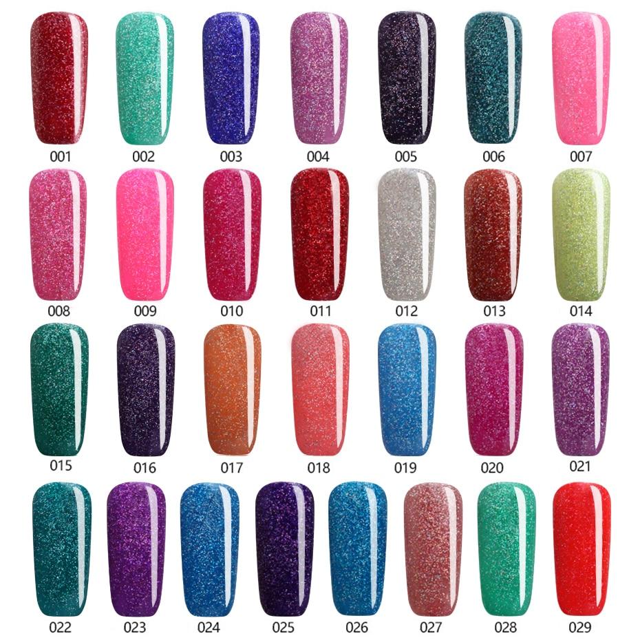 2017 Beautiful Neon Rainbow Nails 7ML UV Nail Gel Polish ...