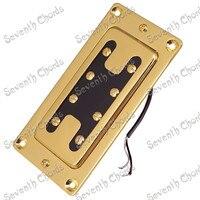 をセットの2ピース金型真鍮カバー4弦ベースピックアップハムバッカーで金属ピックアップリングギターアクセサリ