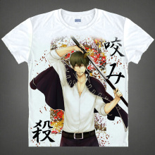 Gintama T shirts kawaii Japanese Anime t shirt Manga Shirt Cute Cartoon Silver Soul Gin Tama
