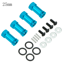 1set Aluminum 12mm Wheel Extension Adapter 25mm/30mm Wheel Drive Hub Hex For RC 1/10 Traxxas Slash 4x4 4WD Option Parts 1 5 degree toe aluminum rear stub axle carriers for the traxxas stampede 4x4 slash 4x4 nitro rustler or nitro stampede