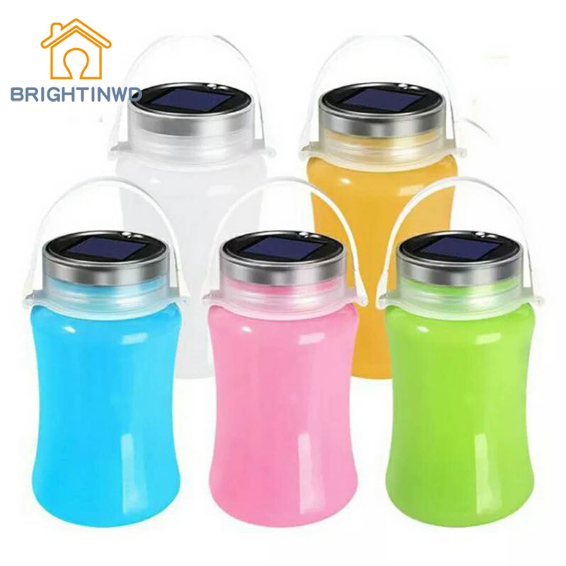 BRIGHTINWD LED Solar Tent Camp Camping Lights Portable Bedside Lamps Emergency Lights Drift Bottles Storage Tanks.