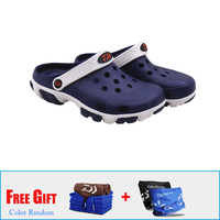 1 Pairs Daiwa Summer Men's Beach Sandals Garden Clogs Lightweight Breathable Fishing Shoes Sandals Damping Anti slip Water Shoes