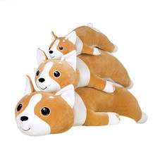Dorimytrader Cuddly Big Soft Cartoon Fat Corgi Plush Toy Giant Lying Stuffed Animal Dog Pillow Kids Play Doll Gift 39inch 100cm(China)