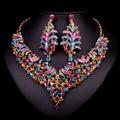 Moda Conjuntos De Jóias de Noiva Colar de Casamento Brinco Para Noivas Acessórios Do Partido Banhado A Ouro Dubai jóia Decoração Mulheres