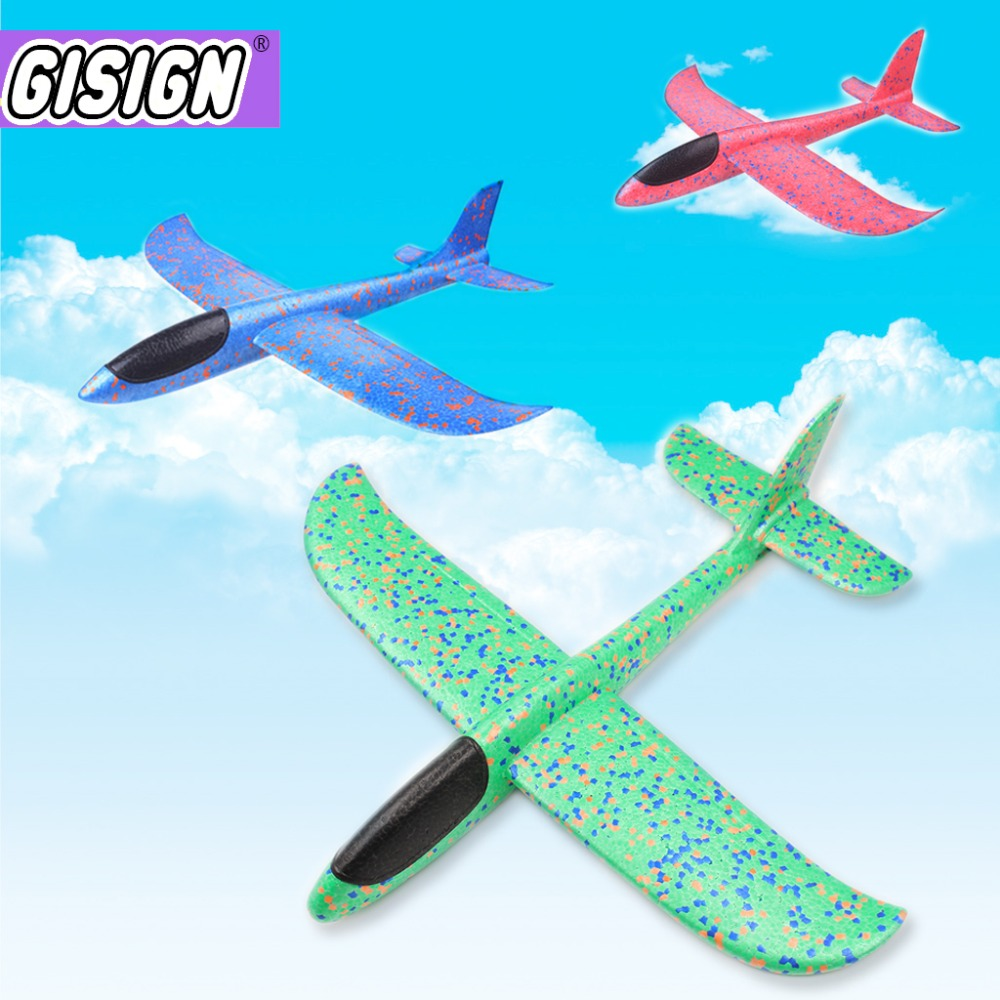 Foam Plane Toys Hand Throw Flying Airplane Model Outdoor Launch Flying Glider Plane Toys For Kids Play Game Toys