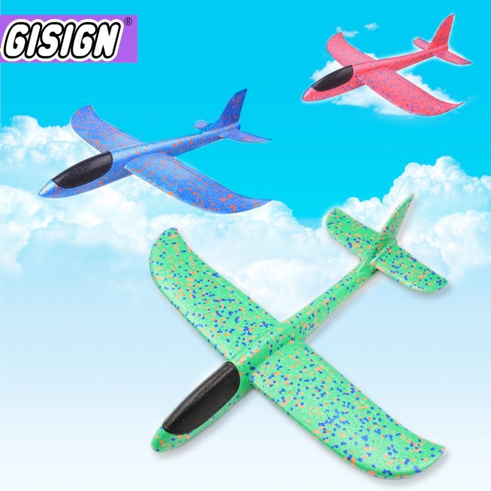 Mousse avion jouets main jeter avion volant modèle lancement en plein air vol planeur avion jouets pour enfants jouer jeu jouets