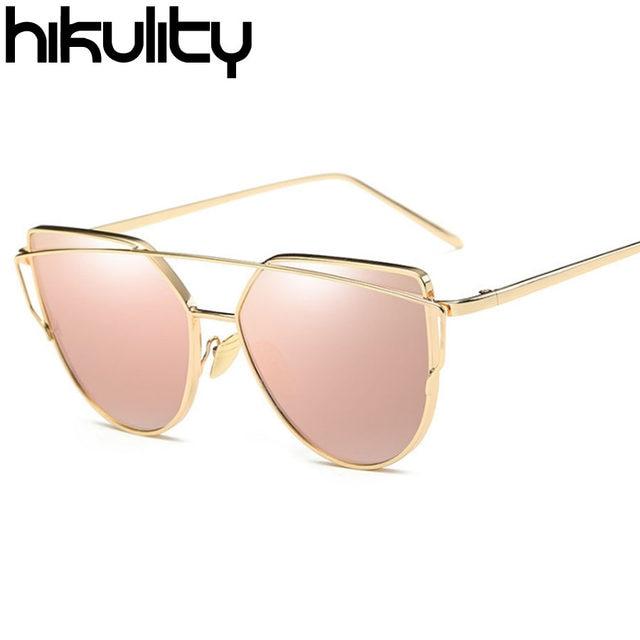 Online Shop Hikulity Vintage Cat Eye Sunglasses Women Brand Designer ...