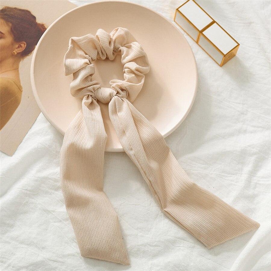 Богемные резинки для волос в горошек с цветочным принтом и бантом, женские эластичные резинки для волос, повязка-шарф, резинки для волос, аксессуары для волос для девочек - Цвет: B5