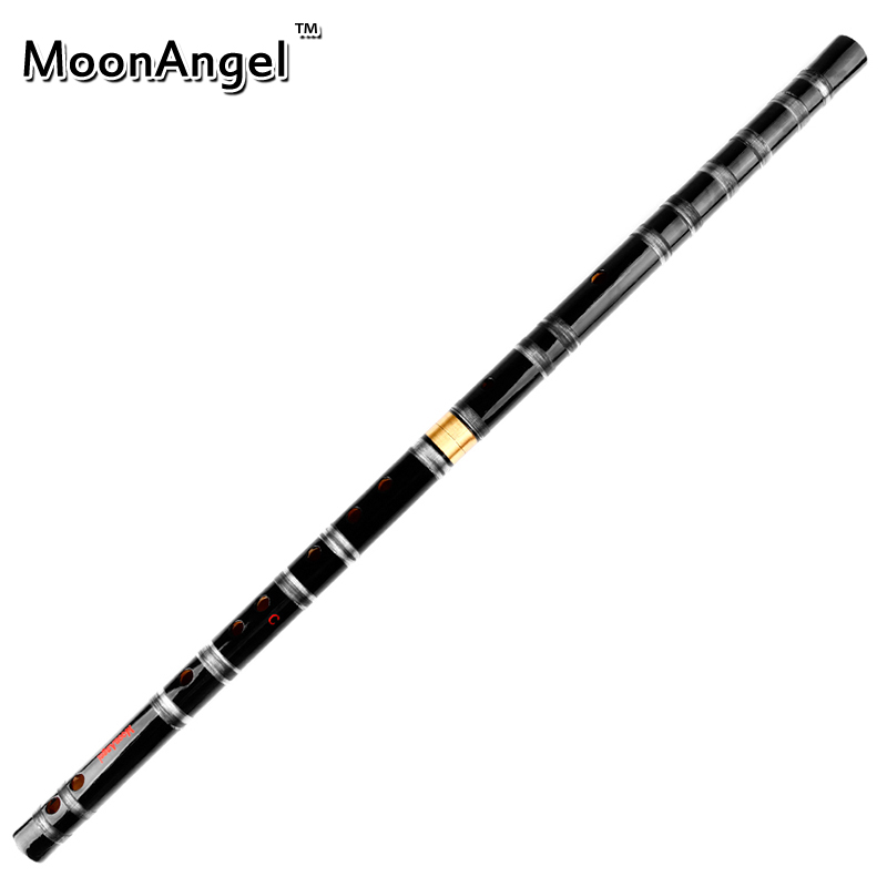 CDEFG Key Black Bamboo Flute with Transparent Lines 10 Holes Musical Instrument Chinese Traditional Handmade Woodwind Instrument цена 2017