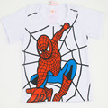 2016 New Summer Style Cotton Spiderman Superman Boys Girls Short T-Shirts Kids Clothing Tee Child's Clothes Cool o neck shirts