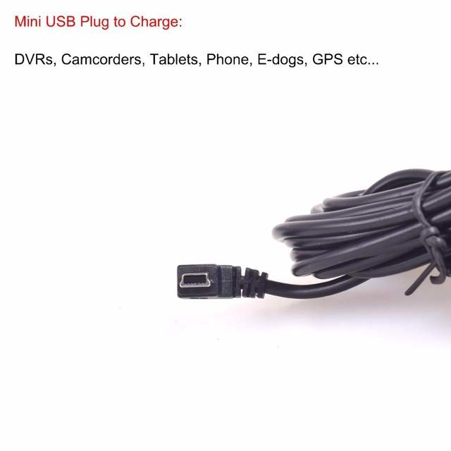 US $6 29  OBDII Charging Cable Mini USB Power Adapter 16Pin OBD2 Connector  Direct Link Car Charger for Gps DVR Tablet E dog Phone 3M/1-in Cables,