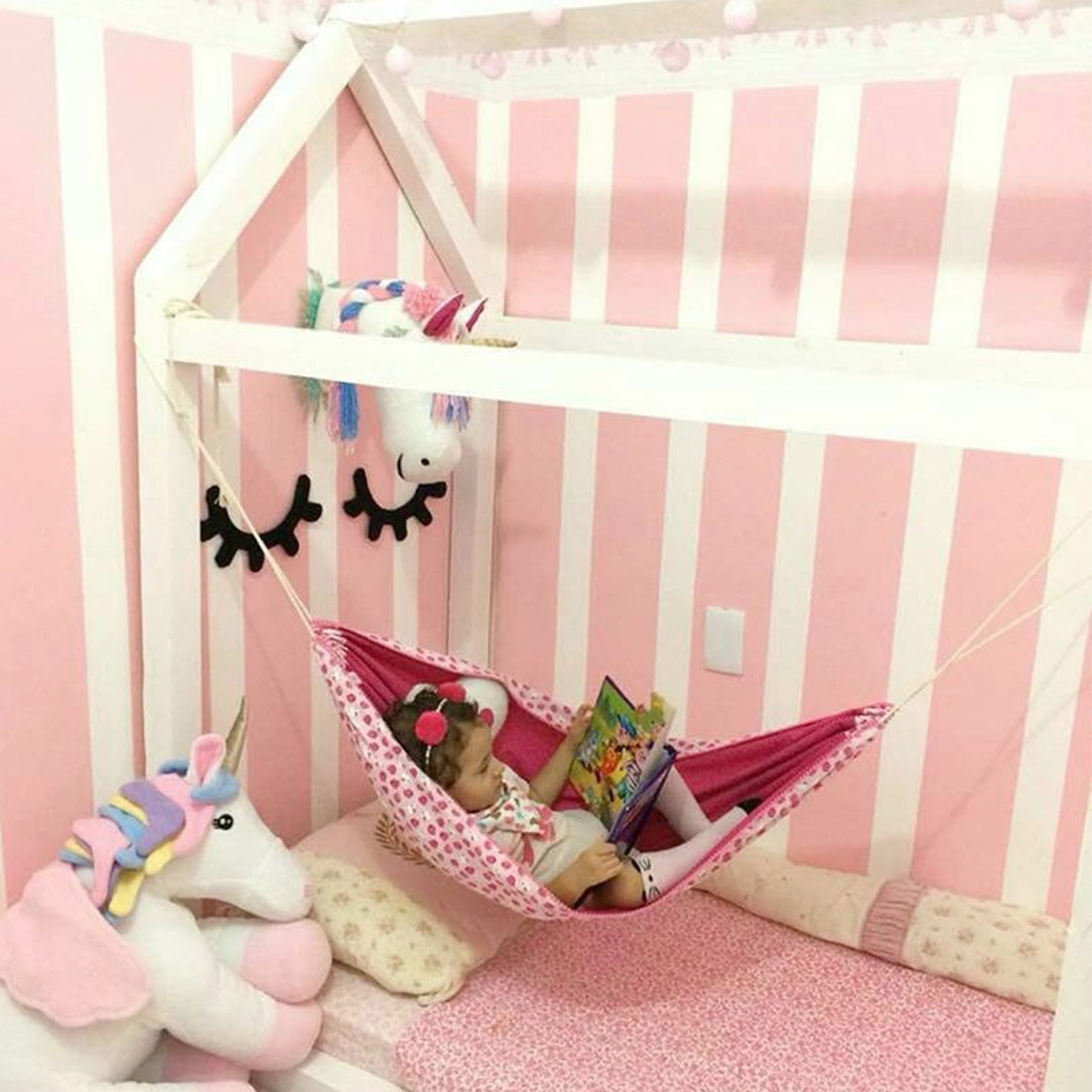 2018 Child Kids Baby Hammock Crib Hanging Sleeping Bed Portable Newborn Indoor Room Hammock Bed Swing Outdoor Hanging Seat Cribs