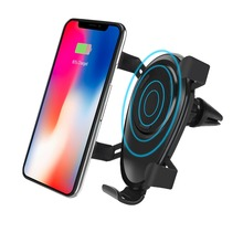 Car Mount wireless charger phone holder Stand For iPhone X 8 samsung galaxy s8 Plus Note 8 smart Quick support telephone voiture цена 2017