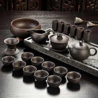 Yixing Viola sabbia tè set nero/rosso in ceramica kung fu Teiera, fatti a mano Viola sabbia teiera teacup gaiwan Zuppiera cerimonia del tè