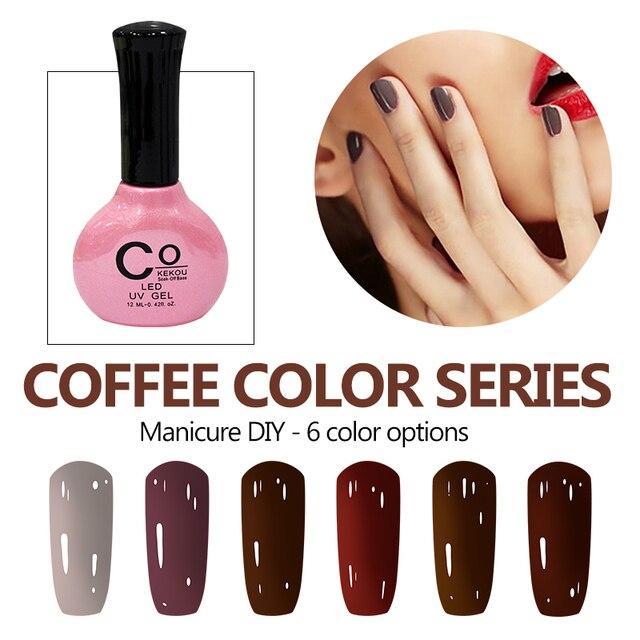 Cokekou 12ml Manicure Coffee Series Nail Gel Phototherapy Chocolate