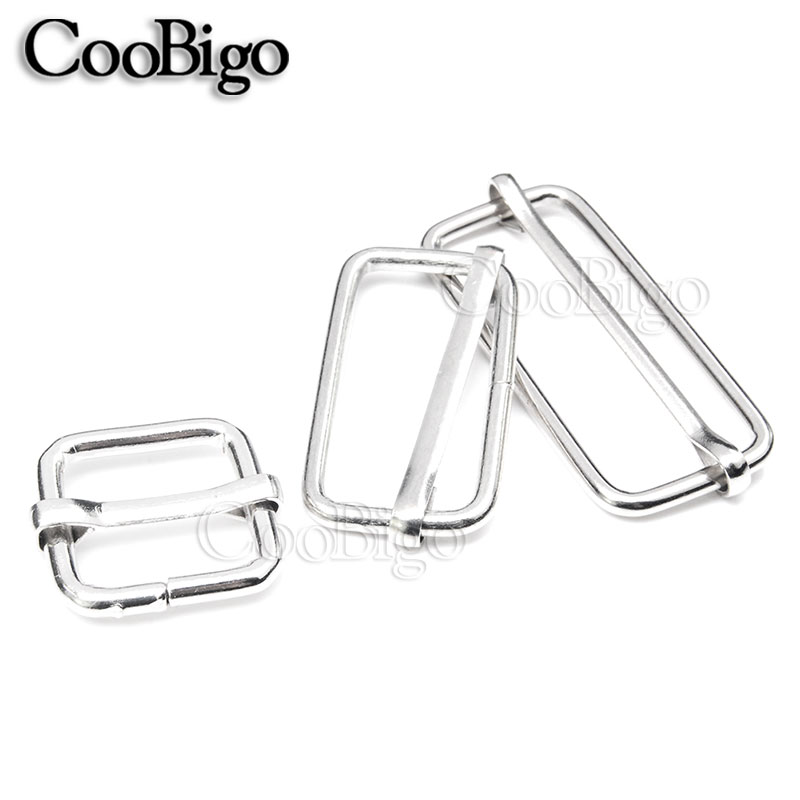 5pcs 2.5cm Metal Tri-glides Wire-formed Roller Pin Buckles Strap Slider Adjuster Wide Varieties Luggage & Bags
