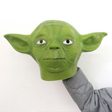 Movie Star Wars Master Yoda Cosplay Mask Full Head Unisex Green Latex Soft Masquerade Party Halloween Fancy Dress Ball(China)