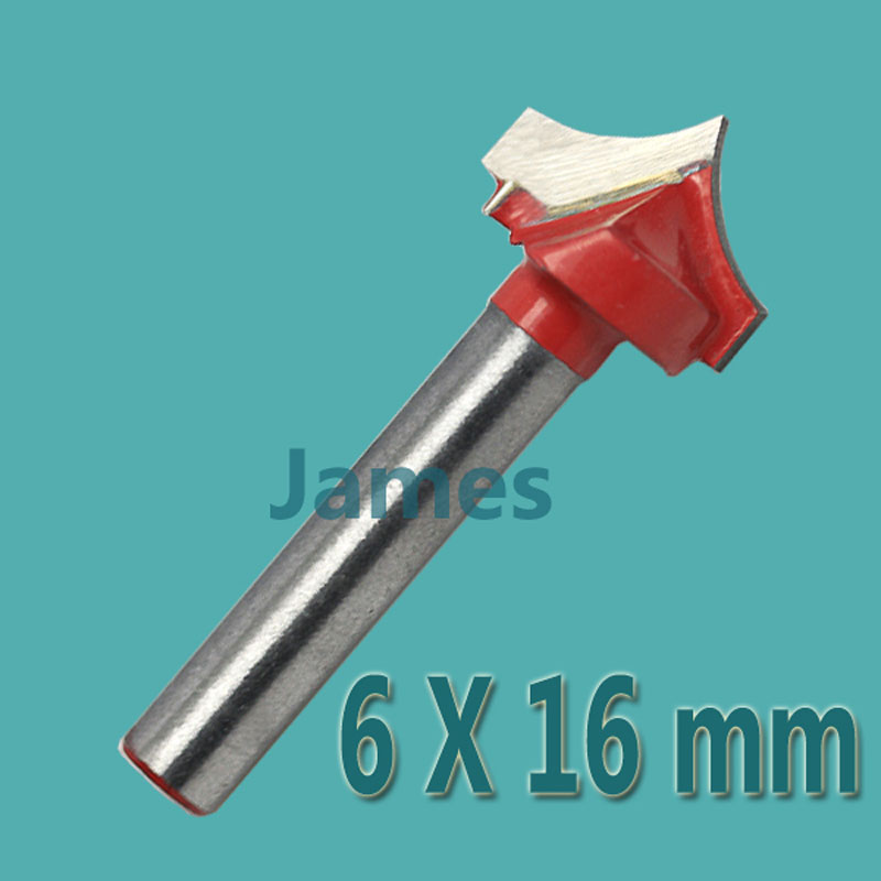 1pc 6*16mm Carbide Wood Making Router End Mill CNC Engraving  V Groove Bits  Milling Tools on Cutting Carving Hard Wood, PVC 10pcs taegutec tpmt16t304 pc tt8125 carbide inserts cnc milling bits new