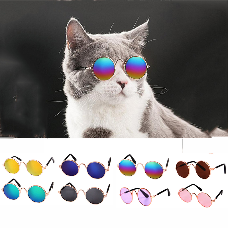 1PC Pet Glasses Cat Dog Products For Little Eye-wear Sunglasses Photos Accessoires