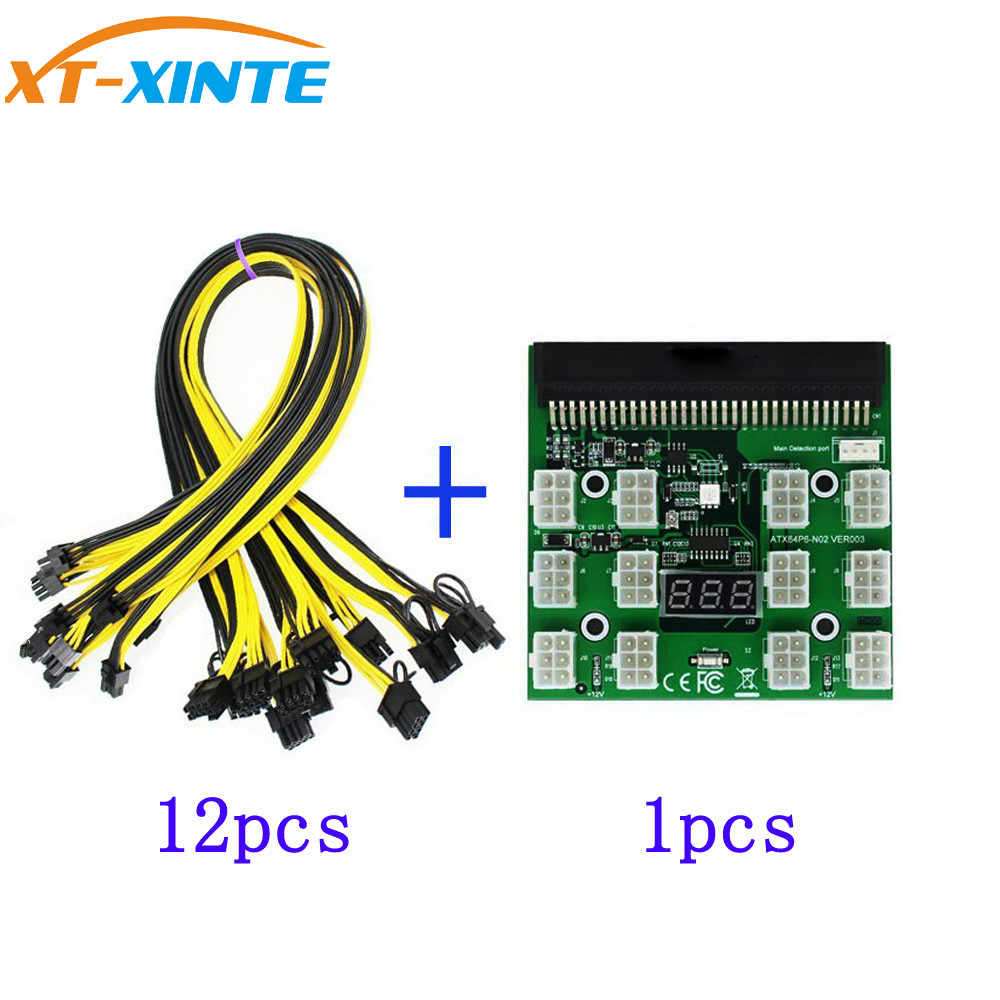 PCI E 12V 64Pin to 12x 6Pin Power Supply Server Adapter Breakout ...