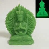 Статуя Будды из нефрита ручной работы, светящаяся статуя Будды, Будда Куан йин, статуэтки для украшения дома