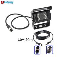 HaiSunny 4 Pin Bus Trailer CCD 18 LED IR Night Vision Car Rear View Reverse Camera Bus Truck 9 26V