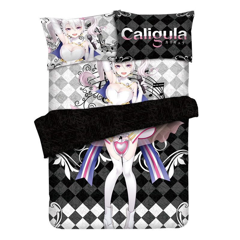 Anime Caligula Overdose Otaku Bedding Linen Bedding Set Bed Sheet or Duvet Cover with Two Pillow cases in Bedding Sets from Home Garden
