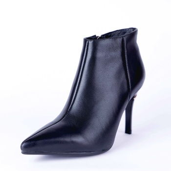 Autumn winter fashion women's boots high quality really cow leather shoes pointed toe high heel black women's boots size 33-43