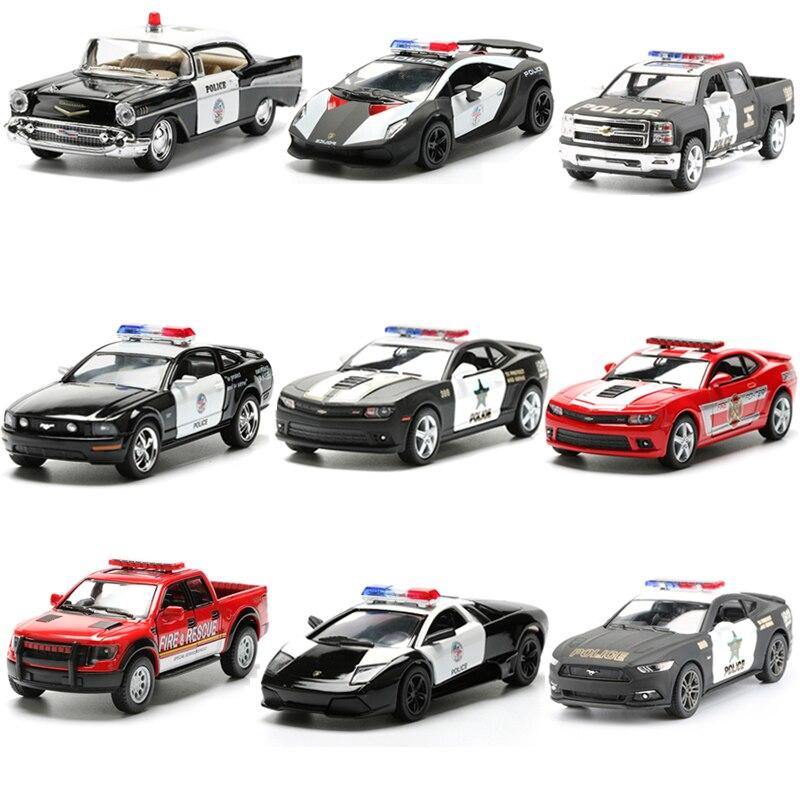 KINSMART сплава полиции серии игрушечных автомобилей литья под давлением Металл моделирование транспортных средств Отступить Полицейский пож... ...