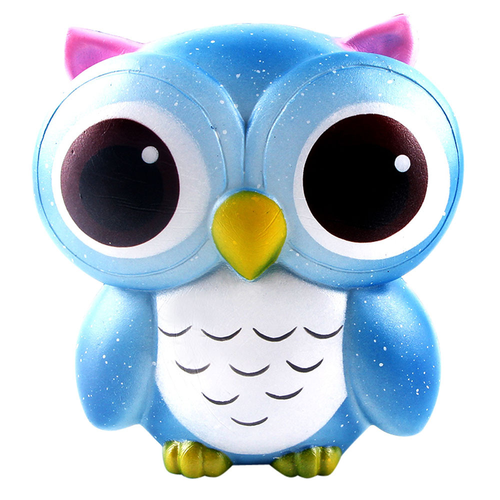 New 15cm Lovely Galaxy Owl Cream Scented Squishy Slow Rising Squeeze Toys Collection For Children Adults Relieves Stress Anxiety