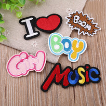 DOUBLEHEE Size On Photo Girl Boy Patch Embroidered Patches For Clothing Iron Close Shoes Bags Badges Embroidery