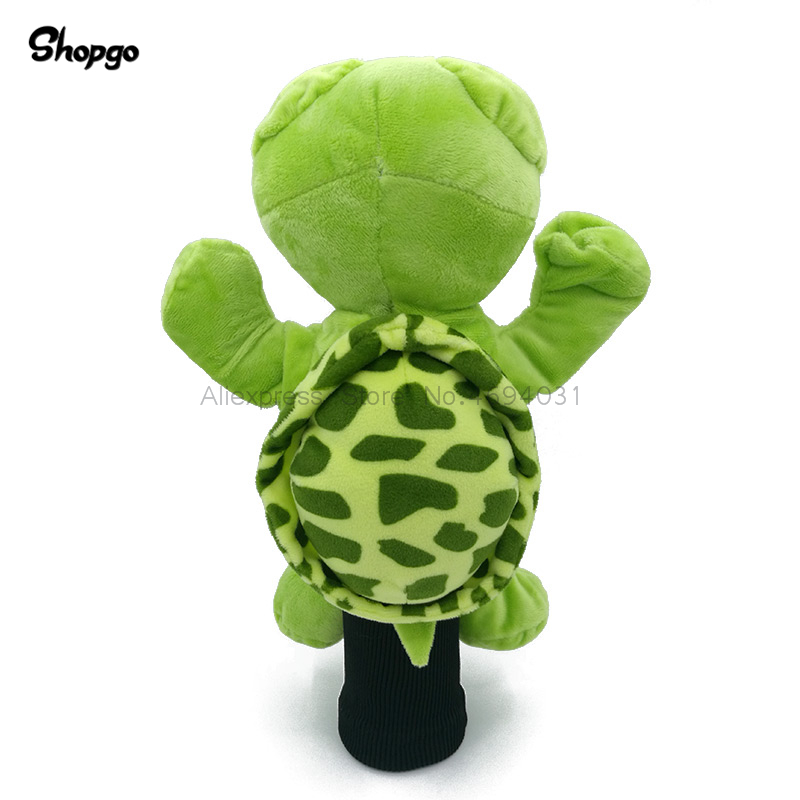 Green Sea Turtle Golf Driver Headcover Cartoon Animal Protecter Outdoor Sports Golf Clubs Cover Mascot Novelty Cute Gift