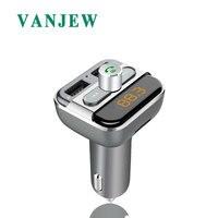 VANJEW BT20 Bluetooth fm-передатчик радио адаптер модулятор Автомобильный комплект 2 usb порта зарядное устройство аудио MP3 передатчик игрока громкой с...
