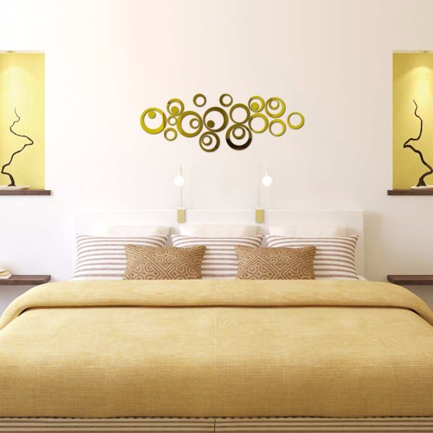 crculo d acrlico espejo pegatinas de pared decoracin para el hogar dormitorio diy modernos espejos redondos