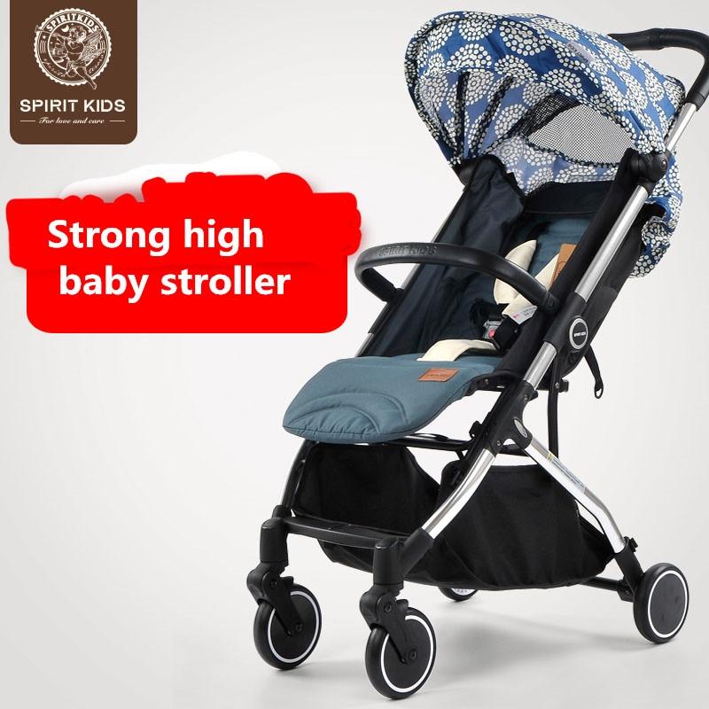 2017 Sale Baby Stroller Coupon Cheaper! 6.5kg Spiritkids Baby Car Four Wheel Stroller Pocket Bike Umbrella Ultra-light Portable