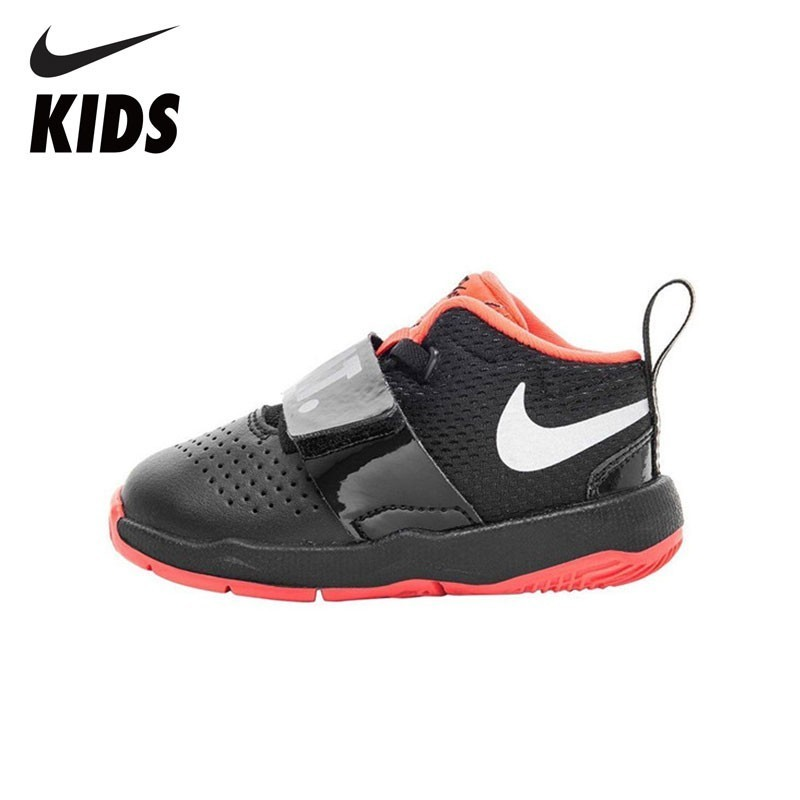NIKE TEAM HUSTLE D 8 JDI (TD) New Arrival Sweat-absorbent Kids Sneakers Toddlers Outdoor Running Shoes AQ9978-001 кроссовки nike team hustle d 8 gs basketball shoe boys 881941 301