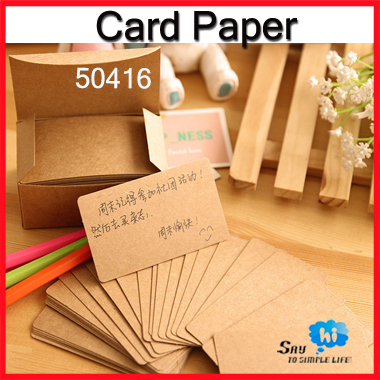 Wholesale business card blank paper message word kraft classic retro wholesale business card blank paper message word kraft classic retro style shop gift thanks tag 600pcslot say hi 50416 in business cards from office reheart Choice Image