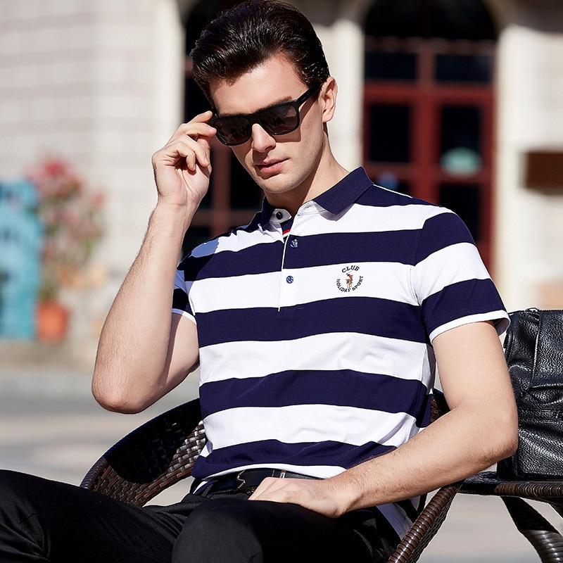 9c5e00b13 2019 de alta calidad de verano camisa de polo de los hombres de manga corta  polos camisas bolsillo con cremallera para hombre pol ropa vestido  streetwear ...