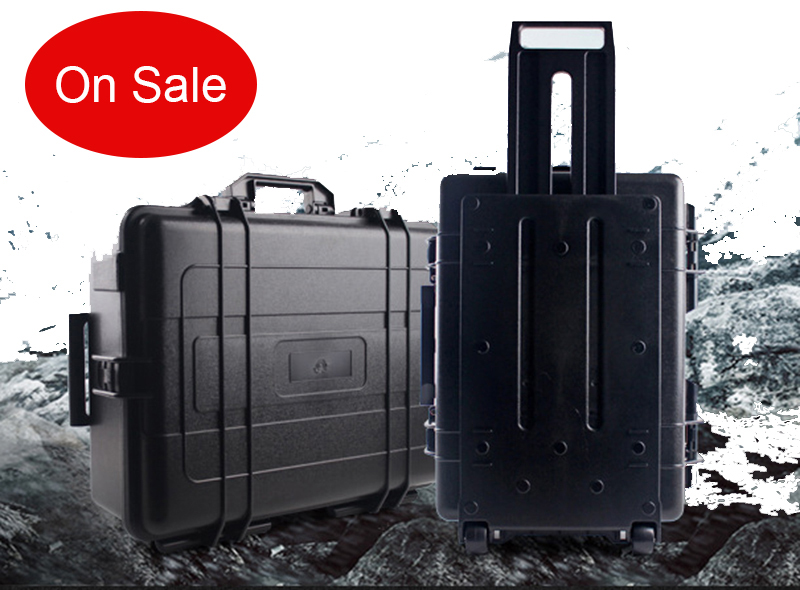 660*500*200mm Waterproof Trolley Case Toolbox Tool Case Protective Camera Case Equipment Box With Pre-cut Foam Lining