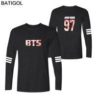 BATIGOL Bts Bangtan Boys Cherry Blossoms Cotton O Neck Long Sleeve T Shirt Men And Women