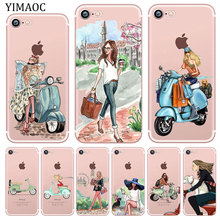 YIMAOC Scooter bicycle car girl travel Soft Silicone Phone Shell Case for iPhone XR X XS 11 Pro Max 5 5S SE 6 6S 7 8 Plus 10 yimaoc hailee steinfeld ross soft silicone case for apple iphone 11 pro xr xs max x 10 8 plus 7 6s 6 plus se 5s 5 7plus 8plus