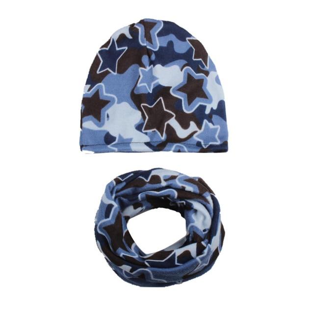 595f0ceddc1f Nouvelle Mode 1 Set Automne Hiver Crochet Bébé Chapeau Fille Garçon bonnets  Cap Enfants Chapeaux Étoiles