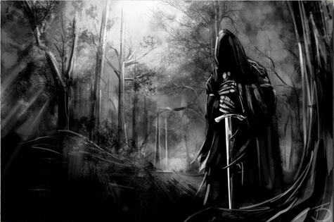 Sword Nazgul Artwork The Lord of the Rings Movie Art Wall Decor Silk Print Poster image